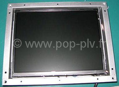 ecran lcd video player 10 pouces open frame pop plv fr. Black Bedroom Furniture Sets. Home Design Ideas