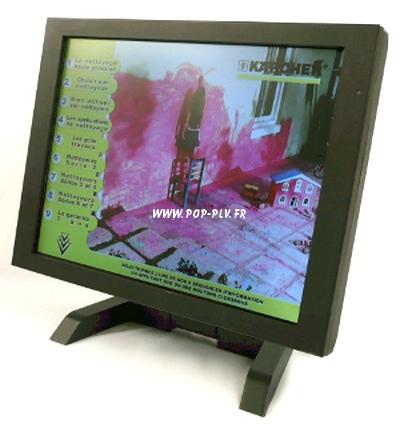 écrans lcd sur support pour comptoir