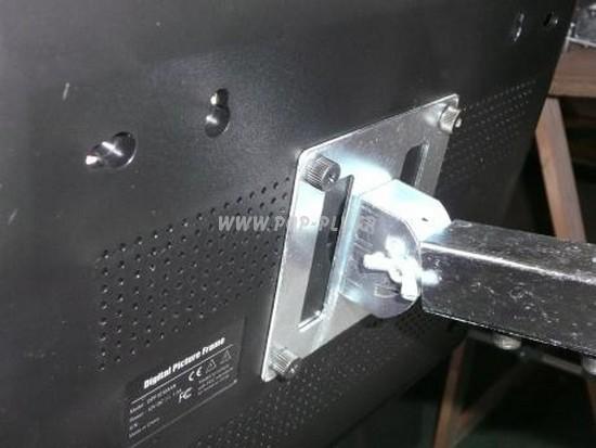 """Ecran Lcd vidéo-player gamme """"Eco-plus"""" 12 pouces : dos Vesa 75 * 75 pour fixation."""