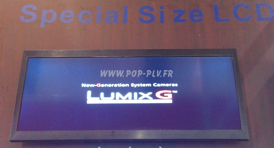 écran lcd grande largeur à matrice active avec entrée DVI