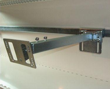 support télescopique a tête inclinable pour gondoles de GMS