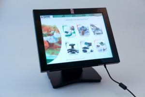 grande distribution - écran Lcd de comptoir avec son alimentation