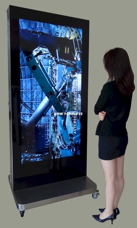 écran plat lcd - commerces de luxe écran d'affichage publicitaire de grande taille de 65 pouces