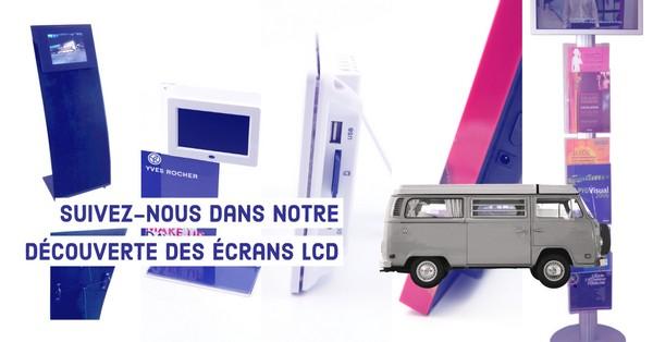 stand exposition multimédia avec écran Lcd vidéo player