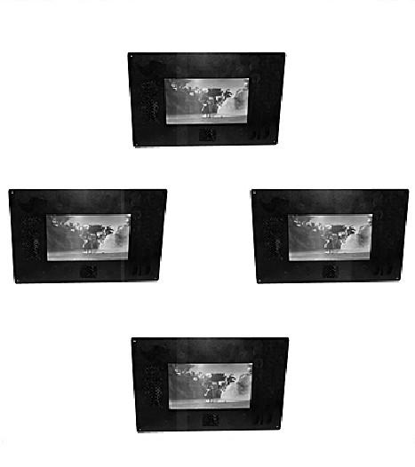 écrans tactiles avec cadre en acrylique