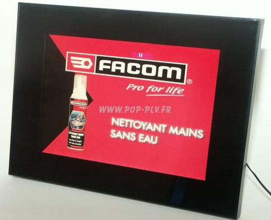 """Ecran Lcd vidéo player 12 pouces gamme """"Primo-one"""" : vue de face - signalétique publiciaire"""