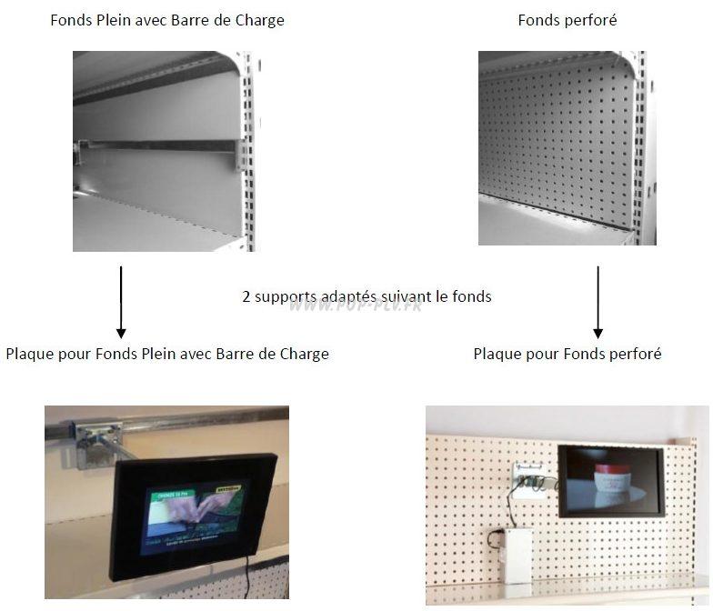 attache d'écrans lcd - supports des écrans sur les linéaires