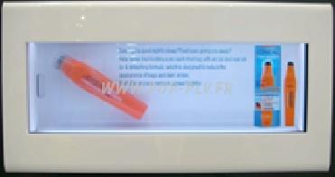 écran Lcd Transparent pour coffret d'exposition - taille de 10,2 pouces.