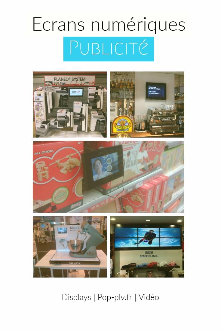 grande distribution - les écrans Lcd vidéo-player et la GMS