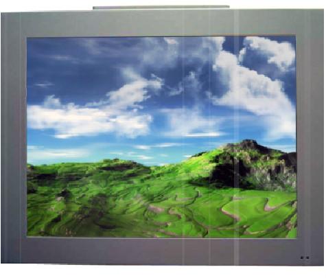 écran à encastrer Lcd : gamme « Silver » bordure métallique