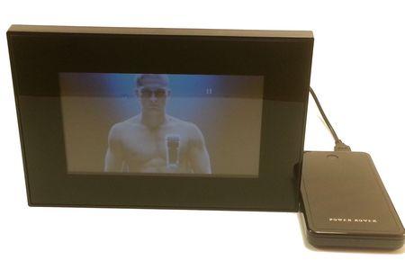 écran Lcd média player - écran Lcd avec son alimentation
