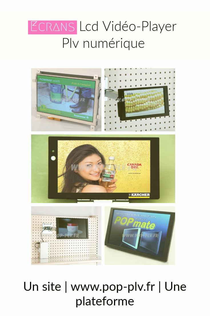 """affichage publicitaire - écrans gammes """"Supermarket"""" dans différentes configurations"""