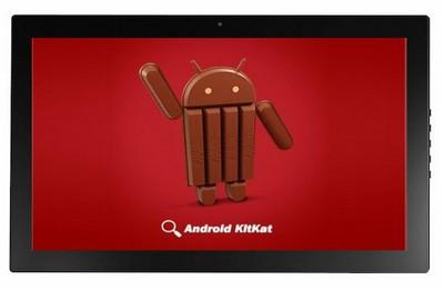 android - Tablette Android de 13,3 pouces vue de derrière avec le support