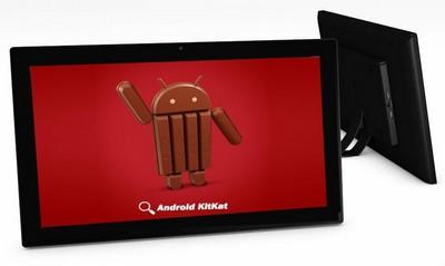 tablette tactile - Tablette Android 18,5 pouces vue de face et de côté
