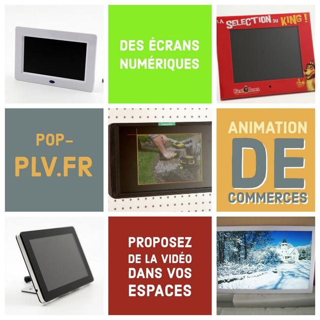commerces - différents écrans Lcd personnalisés pour la publicité