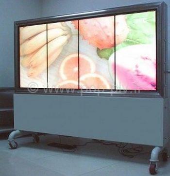 dalle - quatre dalles d'écran format un mur d'images