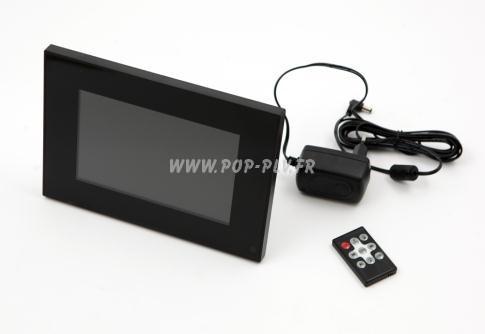 """Ecran LCD vidéo-player """"Eco-plus"""" avec télécommande et alimentation"""